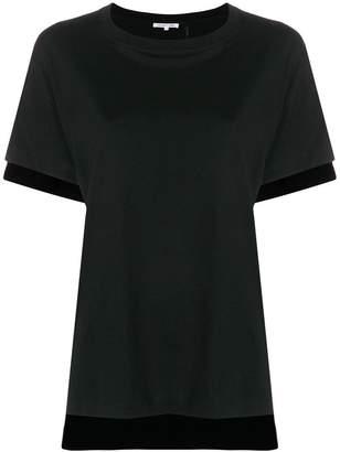 Helmut Lang (ヘルムート ラング) - Helmut Lang contrast hem T-shirt