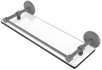 Allied Brass 16 Inch Tempered Glass Shelf with Gallery Rail