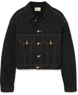 Simon Miller Keya Cropped Denim Jacket - Black
