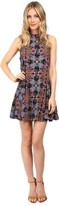Brigitte Bailey Tessie Mock Neck Printed Dress Women's Dress