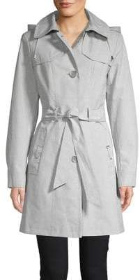 Gallery Hooded Button Trenchcoat