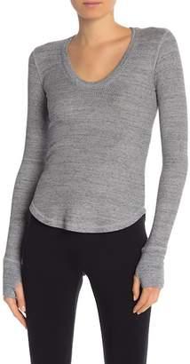 Splendid U-Neck Long Sleeve Knit Sweater