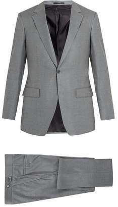 Kilgour Single Breasted Wool Crepe Suit - Mens - Light Grey