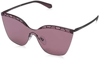 Bulgari Women's 0BV6093 20321A Sunglasses, Matte Plum Violet