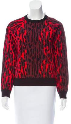 Valentino Printed Knit Sweater