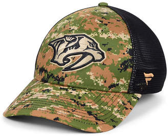 Authentic Nhl Headwear Nashville Predators Military Appreciation Speed Flex Stretch Fitted Cap