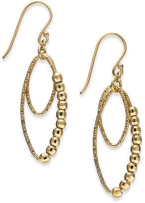 Giani Bernini Beaded Oval Double Drop Earrings in 18k Gold-Plated Sterling Silver, Created for Macy's