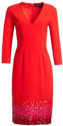 Ahluwalia Beaded V-Neck Sheath Dress