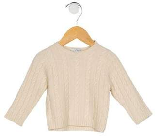 Baby CZ Boys' Cable Knit Cashmere Sweater