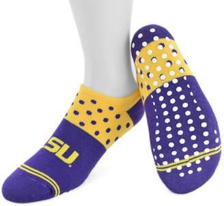 NCAA Women's Mojo LSU Tigers Speckled No-Show Grip Socks