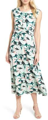 Chaus Rainforest Knot Front Maxi Dress