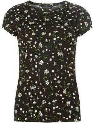 Dorothy Perkins Womens Black Daisy Floral T-Shirt