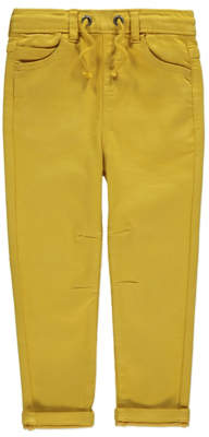 CAT George Mustard Elasticated Waistband Trousers