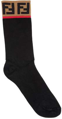 Fendi Ff Cotton Jacquard Socks