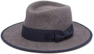 Maison Michel Thadee Ribbon Felt Hat - Womens - Grey
