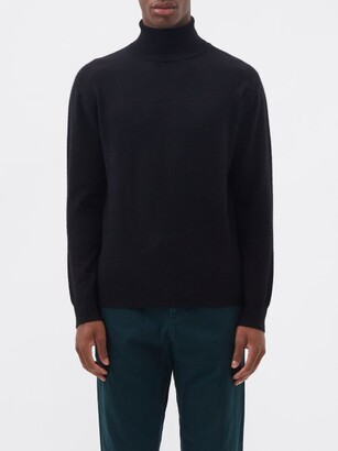 Raey Roll Neck Cashmere Sweater - Mens - Black