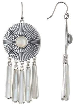 Lucky Brand Medallion Fringe Drop Earrings