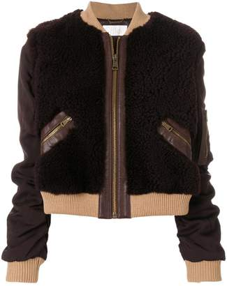 Chloé contrast bomber jacket
