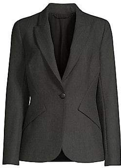Elie Tahari Women's Allegra Dotted Plain Weave Suiting Jacket