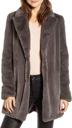 f37da0709be1 Gray Faux Fur Coat - ShopStyle