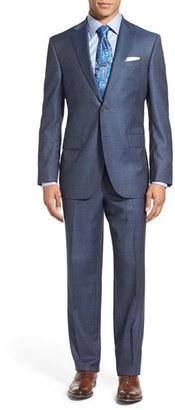 Men's David Donahue 'Ryan' Classic Fit Plaid Wool Suit $795 thestylecure.com