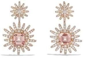 David Yurman Starburst Drop Earring With Morganite And Diamonds In