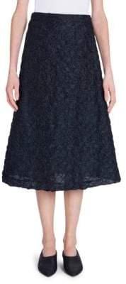 Jil Sander A-Line Crinkle Midi Skirt