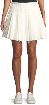 DAY Birger et Mikkelsen Maggie Marilyn Perfect Pleated Frayed Mini Skirt
