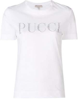 Emilio Pucci rhinestone logo T-shirt