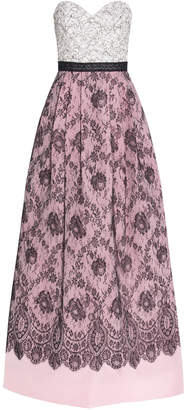 Andrew Gn Lace Bandeau Gown