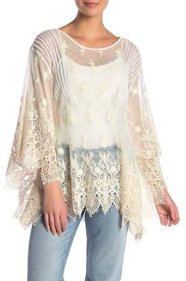 Johnny Was Penelope Embroidered Tulle Top