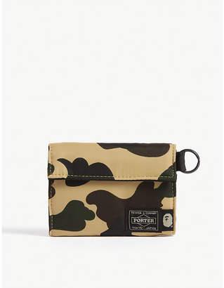 A Bathing Ape Bape x Head Porter camouflage print wallet
