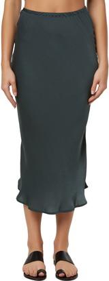 O'Neill Shane Satin Midi Skirt