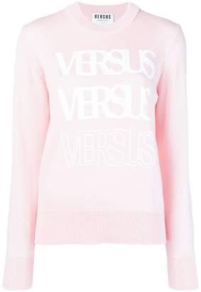 Versus logo long-sleeve sweater