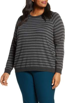 Eileen Fisher Stripe Crewneck Top