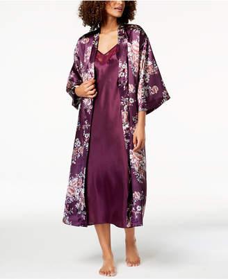 Thalia Sodi Floral-Print Charmeuse Robe, Created for Macy's