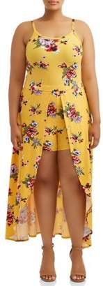 Eye Candy Juniors Plus Size Strappy Knit Maxi Romper