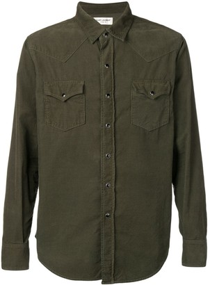 Saint Laurent corduroy Western shirt