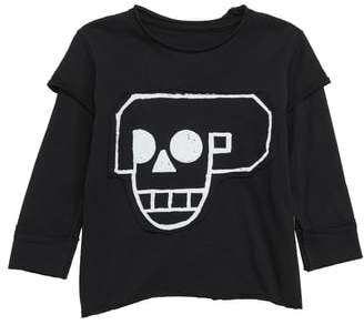 Nununu Skull Robot Patch Layer T-Shirt