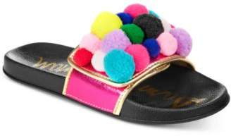 Sam Edelman Mackie Cayman Pom-Pom Slide Sandals, Little Girls & Big Girls