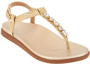 Vionic Embellished T-Strap Sandals- Boca