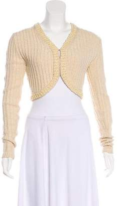 Milly Cropped Embellished Cardigan