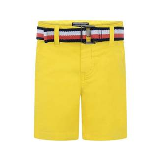 Tommy Hilfiger Tommy HilfigerBoys Yellow Belted Chino Shorts