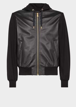 Versace Studded Medusa Hooded Leather Jacket