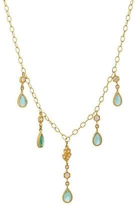 Cathy Waterman Women's Emerald Pendant Necklace - Green
