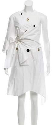 Ji Oh Off- Shoulder Knee- Length Dress