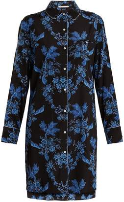 Stella McCartney Poppy Snoozing stretch-silk pyjama shirtdress