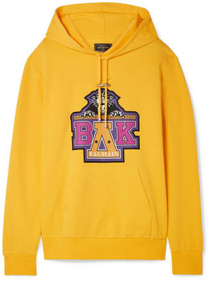 Balmain Beyoncé Coachella Printed Cotton-blend Jersey Hooded Top - Yellow