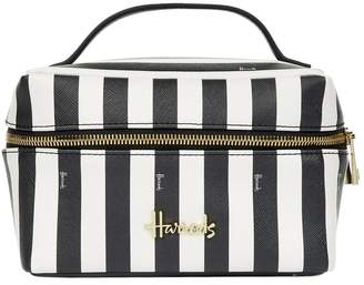Harrods Boutique Multi Stripe Large Cosmetic Bag
