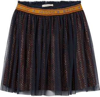 Scotch & Soda Printed Tulle Skirt